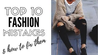 Top 10 fashion mistakes for women