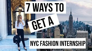 NYC Fashion internship 101