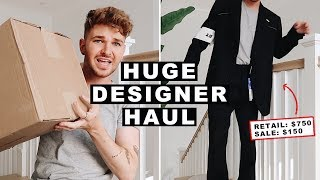 Huge men's designer clothing haul