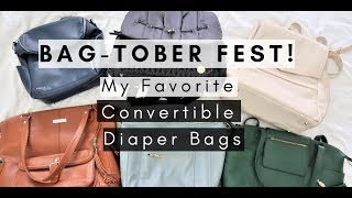 My favorite convertible diaper bags
